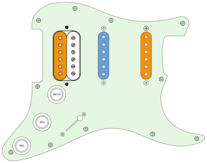 orange: normal / blau: reverse / weiss: deaktiviert